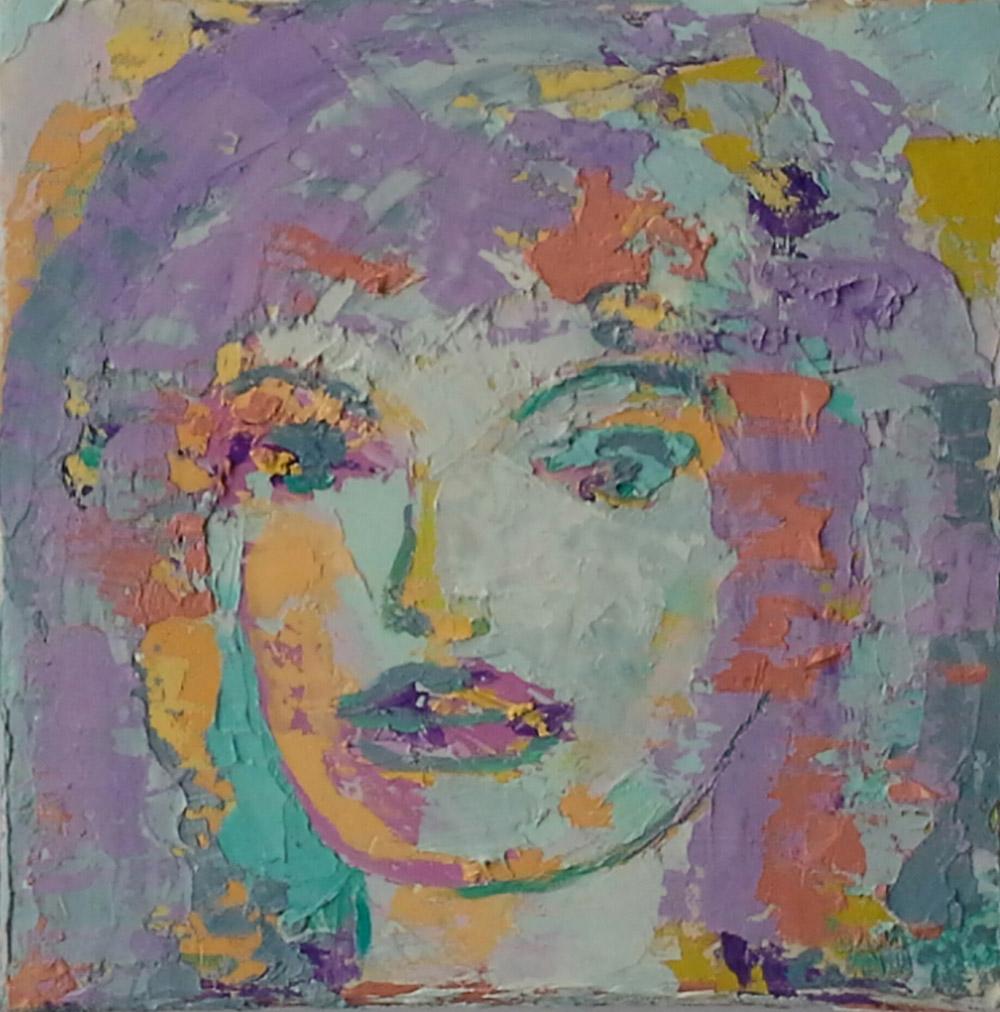 Portrait. 20x20. Öl auf Leinwand. Unikat.