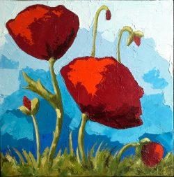 Blumen - 30 x 30 cm