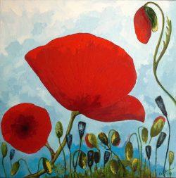 Blumen - 80 x 80 cm