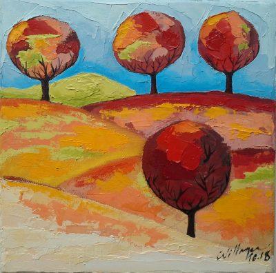 Bäume - 20 x 20 cm