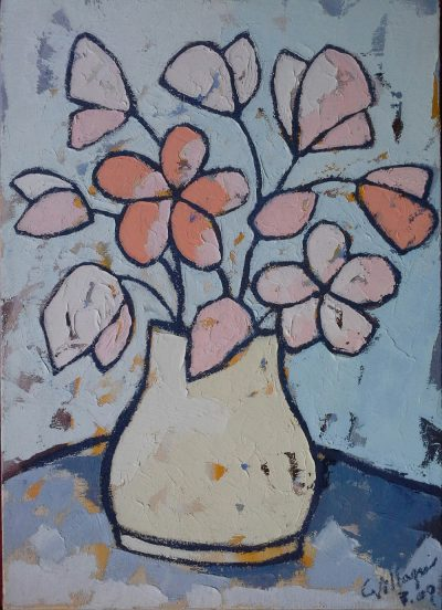 Stillleben mit Blumen - 50 x 70 cm
