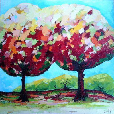 Bäume - 80 x 80 cm