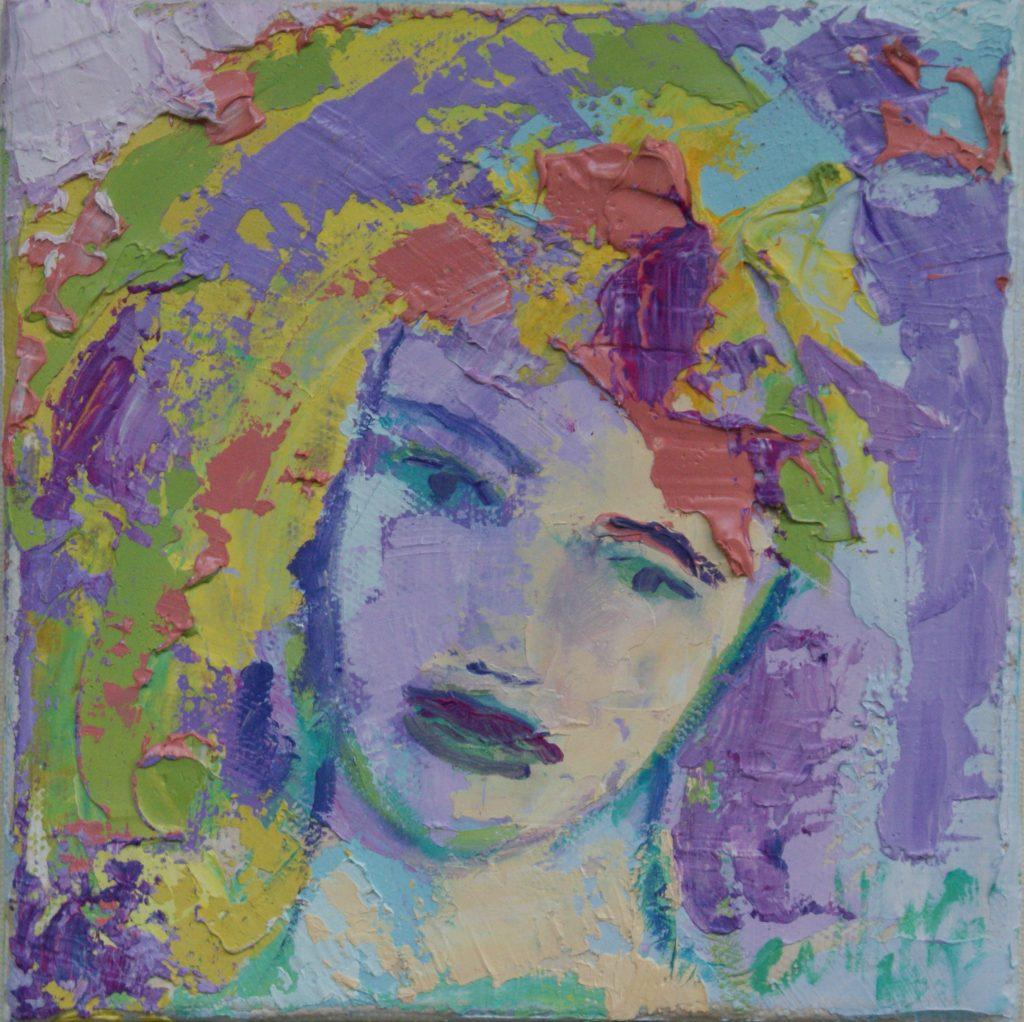 Portrait 20x20 - Öl auf Leinwand