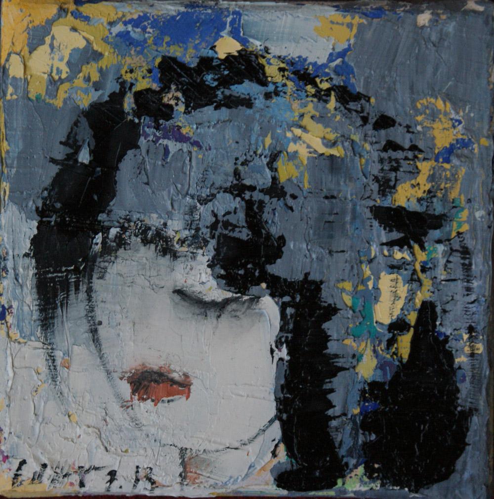 Portrait 15×15 – Öl auf Leinwand